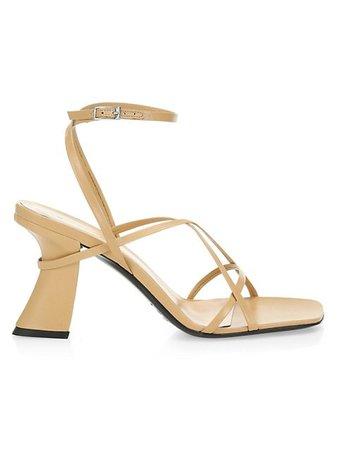 By Far Kersti Square-Toe Leather Sandals   SaksFifthAvenue