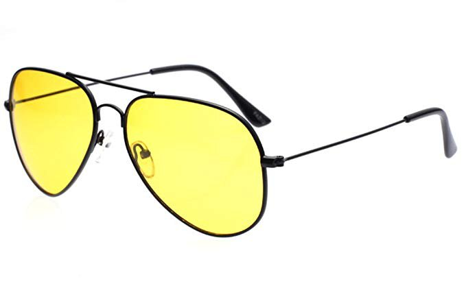 Amazon.com: Outray Men or Women Night Vision Aviator Polarized Sunglasses for Driving Black Yellow: Shoes