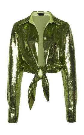 Tie-Front Sequined Crop Top By Tom Ford | Moda Operandi