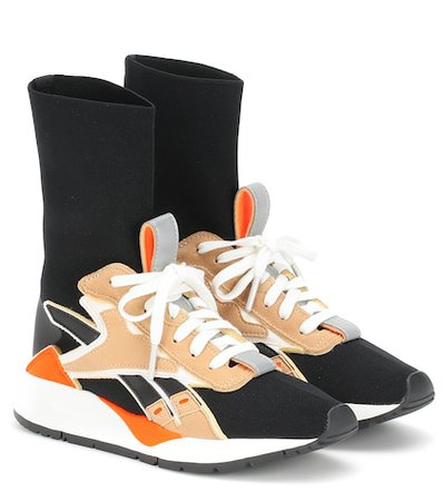 Bolton Sock leather-trimmed sneakers
