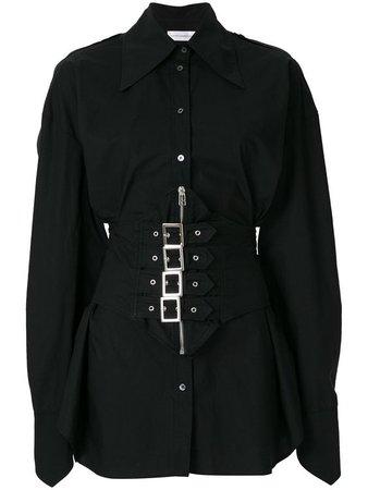 Faith Connexion Sita shirt - black button up buckle detail