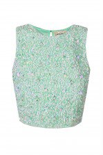 LACE&BEADS PICASSO MINT SEQUIN TOP | LACE&BEADS TOPS