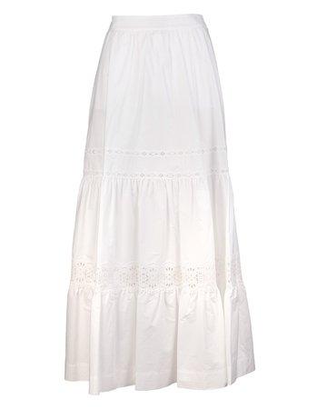 High-waist Tiered Maxi Skirt