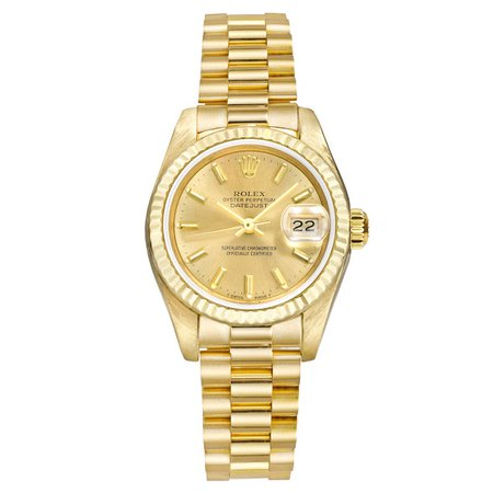 Rolex Ladies Yellow Gold Oyster Perpetual Date-just Watch