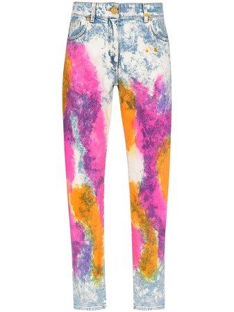 Versace tie-dyed Jeans - Farfetch