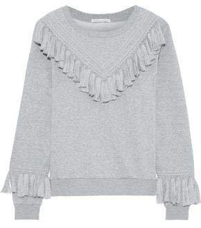 Tasseled Cotton-blend Fleece Sweatshirt