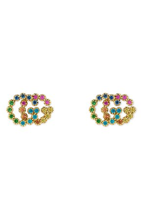 Gucci Double-G Multistone Stud Earrings | Nordstrom