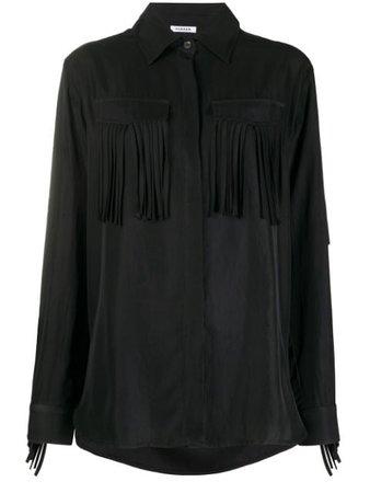 P.a.r.o.s.h. Fringed Shirt TILTD380545 Black | Farfetch