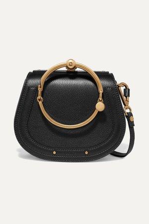 Black Nile Bracelet small textured-leather and suede shoulder bag   Chloé   NET-A-PORTER