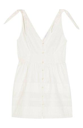 Topshop Pintuck Sleeveless Button Minidress | Nordstrom