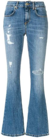 flared fitted jeans