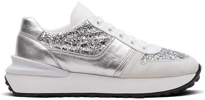 Metallic Glitter-Effect Sneakers
