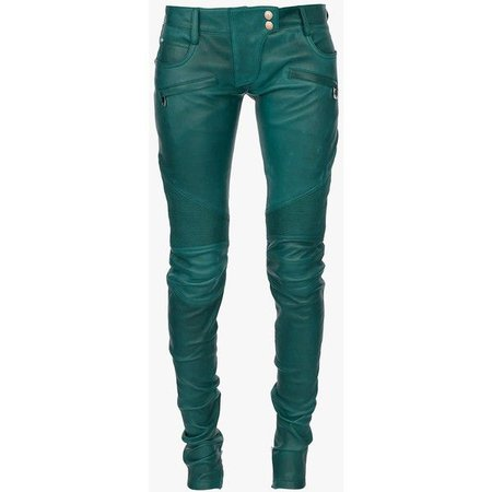 green leathers pants