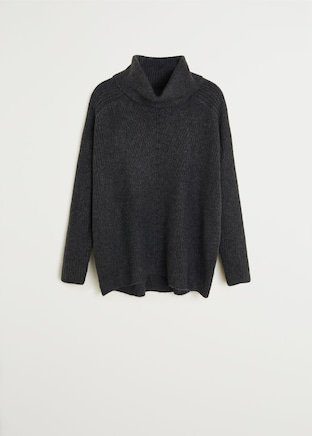 Cowl neck sweater - Women | Mango USA grey