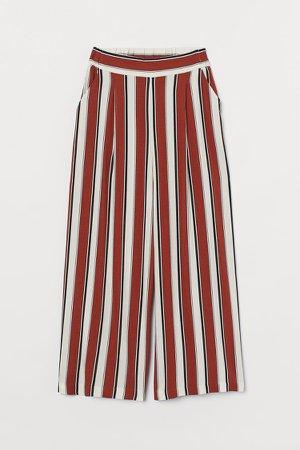 Wide-cut Pants - Orange