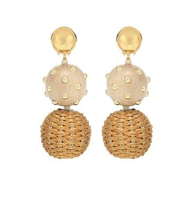 Embroidered Drop Earrings | Oscar de la Renta - Mytheresa
