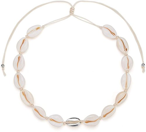 Amazon.com: Nackiy Women Beach Shell Choker Necklace Natural Adjustable Puka Seashell Hawaiian Necklaces(Silver): Gateway