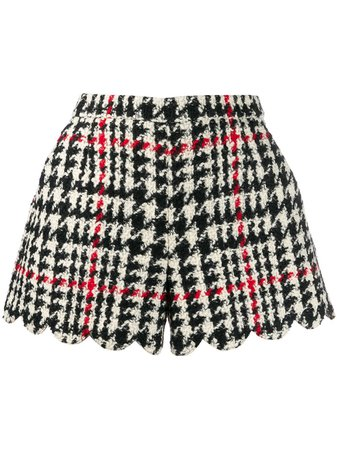 Red Valentino REDValentino check scallop hem shorts $420 - Buy AW19 Online - Fast Global Delivery, Price