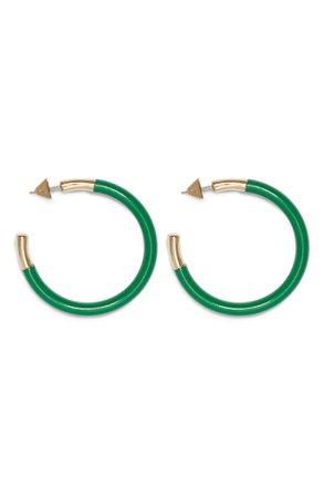 Vince Camuto Enamel Hoop Earrings | Nordstrom