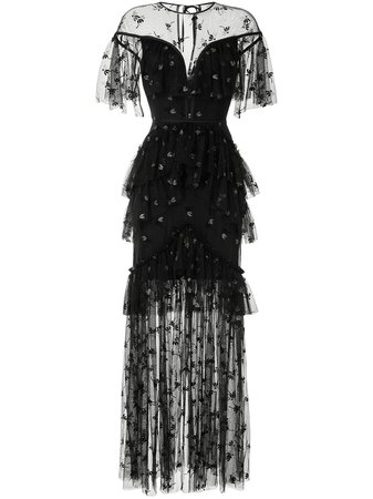 Alice McCall Moon Lover lace-overlay Gown - Farfetch