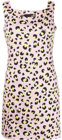Leopard-Print Mini Dress