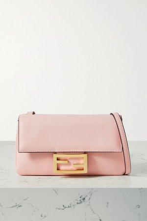 Baby pink Duo Baguette leather shoulder bag | Fendi | NET-A-PORTER