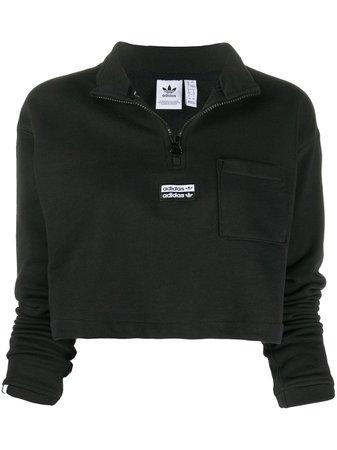 Adidas Cropped Logo Sweatshirt - Farfetch