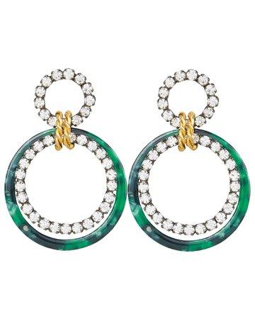 Scarlet Malachite Earrings