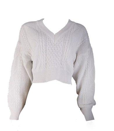 white oversized sweater