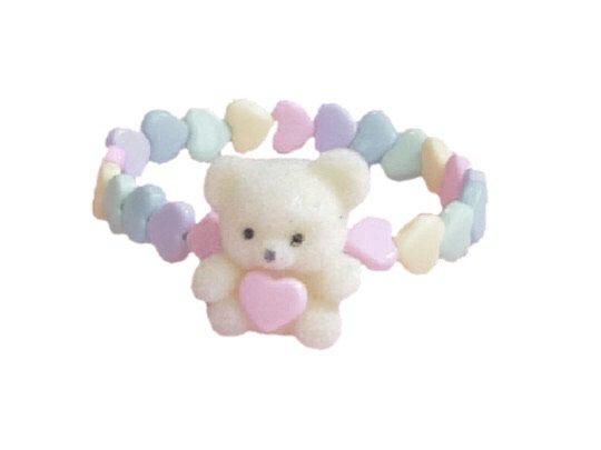 baby bear charm bracelet