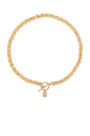 Epifene Museum Necklace with Cyrstal in Gold   REVOLVE
