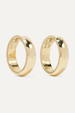 Jennifer Meyer | Wide Huggies 18-karat gold earrings | NET-A-PORTER.COM