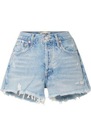 AGOLDE | Parker distressed denim shorts | NET-A-PORTER.COM
