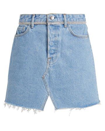 GRLFRND | Milla Embellished Denim Mini Skirt | INTERMIX®