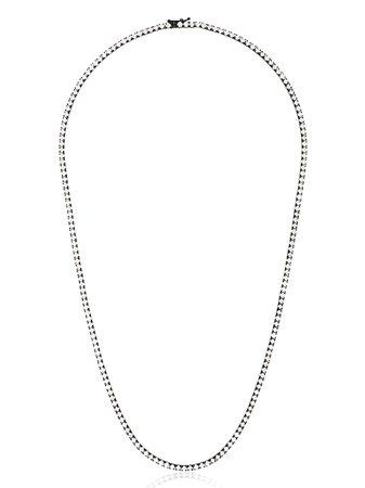 777 18kt black gold diamond necklace - FARFETCH