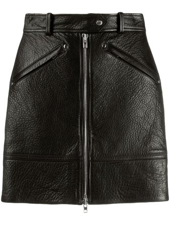 Kenzo Zipped Leather Skirt - Farfetch