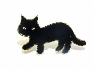 "Accessories shop Cuir carameliser | Rakuten Global Market: Ruchika brooch ""nobita cat brooch ' (black) long natural simple cute cute cat cat cat animal animals cute hair pinned unique black cat personality a fun hair accessories women's animal gifts cool"