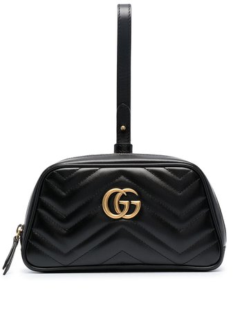 Gucci GG Marmont clutch bag black 645111DTDHT - Farfetch