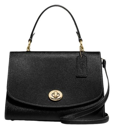 Coach Tilly Top Handle Handbag Black Leather Satchel - Tradesy