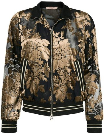 floral dévoré velvet sweatshirt