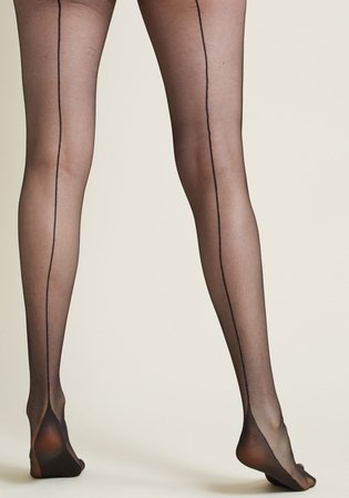 Black Opaque Back-seamed tights