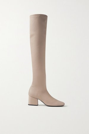 Carlos Leather Over-the-knee Boots - Beige