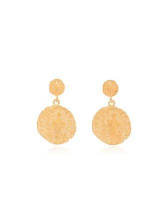 Anni Lu Gold Plated Sterling Silver Sisters Coin Earrings 1103 Metallic | Farfetch