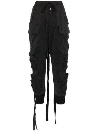 Black Baggy Cargo Pants