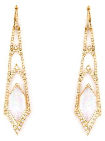 Stephen Webster 'crystal Haze' Long Diamond Earrings WE938 Metallic | Farfetch