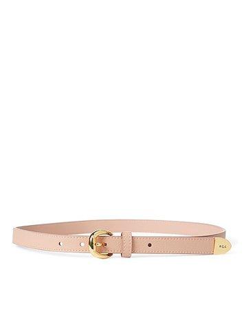 Lauren Ralph Lauren Bennington Ii Leather Belt - Thin Belt - Women Lauren Ralph Lauren Thin Belts online on YOOX United States - 46691848TM