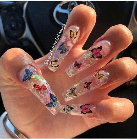 butterflies 🦋 nails