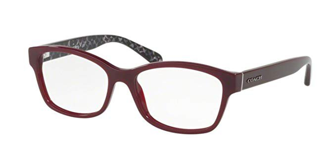 Coach Women's HC6116F Eyeglasses Oxblood/Demo 54mm at Amazon Women's Clothing store