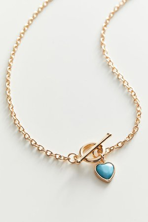 Vivian Heart Toggle Necklace | Urban Outfitters