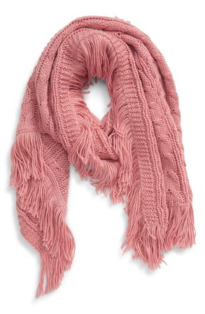 BP. Cable Knit Fringe Scarf | Nordstrom